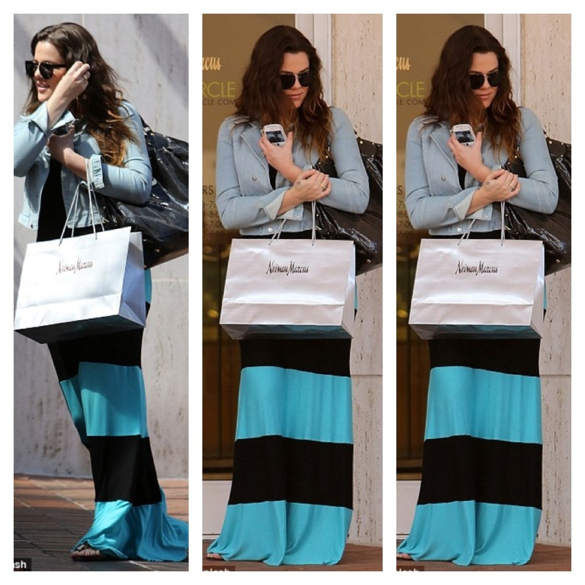 Khloe Kardashian Shopping At Neiman Marcus